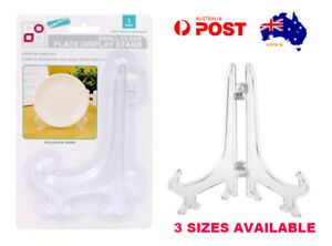 Clear Plate Display Stand Folding Picture Frame Holder Decorative Easel 3 Sizes