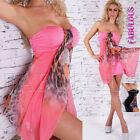 New Sexy Strapless Leopard Animal Print Mini Dress Hot Summer Size 8 10 12 S M L
