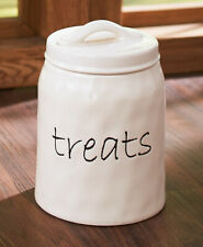 2 Piece Dog, Cat, Treat Canister with Lid, Ceramic,Simply Stated Collection