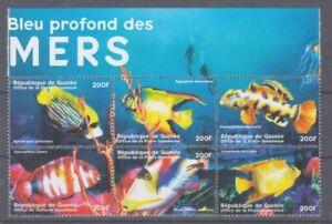 Fish Meerstiere Guinea 6 Values (MNH)