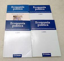 ECONOMIA POLITICA 2011.Journal of Analytical and Institutional Economics,Mulino