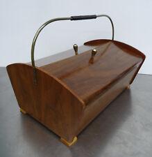 mid century design sewing box - Vintage Nähkasten Utensilienbox Nähkästchen 50er