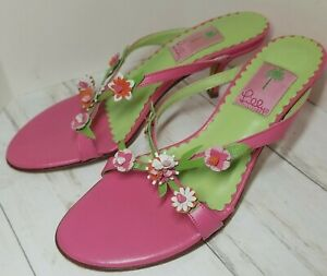 Lilly Pulitzer EUC Pretty Strappy Mule Heels women's size 7.5
