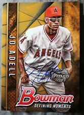 Jo Adell #05/10 Signed 2017 Bowman Defining Moments Gold 5x7 jumbo Auto Card