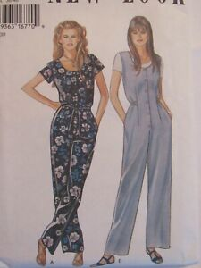Sassy OOP NEW LOOK 6336 Misses Jumpsuit in 2 Versions & 6 Sizes PATTERN 8-18 UC