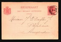 Curacao 1893 5c Postal Card Used / Pink - Z14973