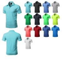 FashionOutfit Men's Top Solid Short Sleeves Premium Quality Side Slit Polo Shirt