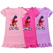 Children's Summer Miraculous Ladybug Nightdress Pyjamas Nightie Dress Sleepwear