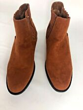 New Bamboo Ankle Boots Women's Suede Slip On Chestnut Brown Size 8 Booties
