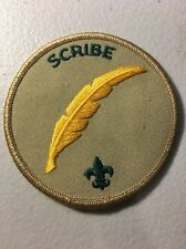 Boy Scouts of America BSA Scribe Position Patch