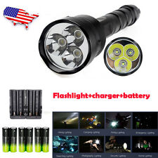 TrustFire 3x  XML T6 LED 5mode 48000lm Flashlight Torch + 18650 BTY+Charger*