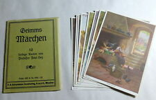 Vintage 1930's Germany Paul Hey 10 Assorted Bros Grimm Fairy Tale Postcards