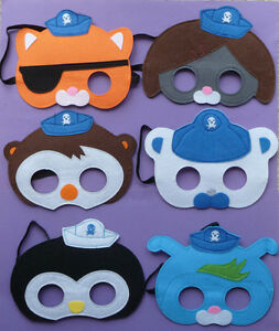 OCTONAUTS Childrens Felt Masks Peso Kwazii Dashi Barnacles fancy dress up lot
