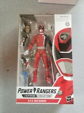 """New listing Power Rangers S.P.D. Red Ranger Lightning Collection 6"""" Action Figure *In Stock"""