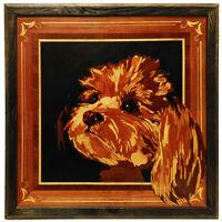 Shih Tzu perro mascota personalizada retrato madera arte pared decoración...
