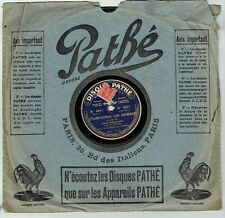 78T SAPHIR 26 cm M. GIRARD Alhambra Londres Phono ANIMAUX - PATHE 4611 RARE