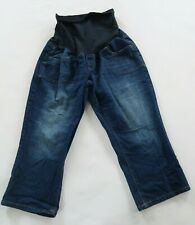 Oh Baby by Motherhood Womens Stretch Cropped Capri Full Panel Maternity Jeans M