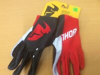Thor Mx Youth Void Motocross MX Mtb Bike Off Road Gloves Red Black size Large