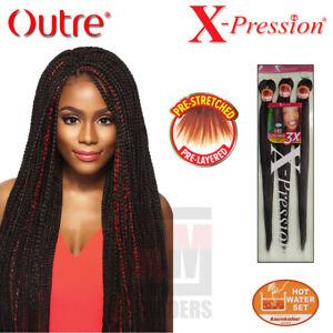 "Xpression Braid Outre 52"" Ultra Braid Hair 3X Pre Stretched EZ Braid"
