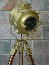 Antique Theater Marine Searchlight Wooden Tripod Retro Spotlight Focus lamp