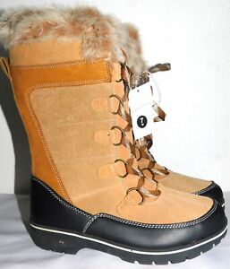NWOB WOMENS SIZE 7 TAN UNIVERSAL THREAD RUTHIE MICROSUEDE TALL DUCK WINTER BOOTS