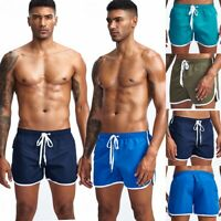 Men's Lace Up Beach Shorts Loose Sports Trunks Board Shorts Swimwear M L XL XXL