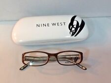Nine West Youth Eyeglass Frames Rectangular Brown Multicolored Circles Legs