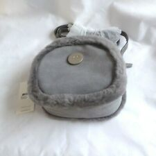 UGG ABBY GREY SUEDE BOX ZIP SMALL CROSS BODY BAG PURSE NWT MSRP $130
