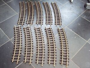 10 LGB 16000 G SCALE MODEL RAILWAY BRASS TRACK R3 CURVES (22.5 DEGREES)
