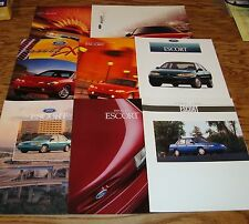 1994-2000 Ford Escort Sales Brochure Lot of 8 94 95 96 97 98 99