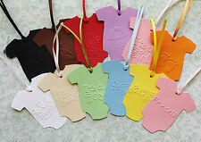10PC - Swing Tags BABY EMBOSSED Bodysuit Christenings, Baby Shower, Gift Cards