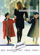PUBLICITE ADVERTISING 094  1991  JACADI  pret à porter enfants manteaux