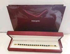 Blue sapphire oval tennis bracelet gift idea Brilliant gift boxed free postage