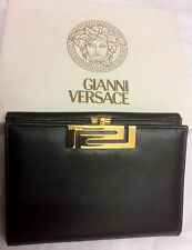 Gianni Versace NEW mens Rare vintage leather Trifold wallet