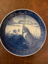 royal copenhagen collectible blue 1970 Christmas Plate