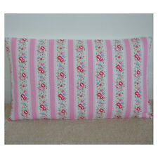 """20""""x12"""" Oblong Bolster Cushion Cover Cath Kidston Lace Pink Floral Stripe 12x20"""