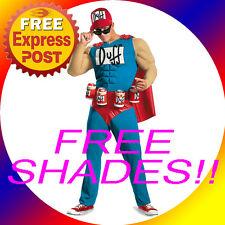 EXPRESS THE SIMPSONS DUFFMAN BEER DUFF MAN MENS SUPERHERO FANCY DRESS COSTUME