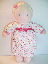 CARTER'S DOLL - GOWN WITH FLOWERS/PINK VELVET RIBBON - RATTLE LOVIE - VGC