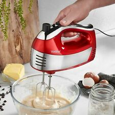 VONSHEF 400W 5 Speed Hand Mixer Blender Whisk Beater Red