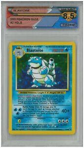 1999 Pokémon Base BLASTOISE #2 Holo 💎 DSG 8.5 NM/MINT