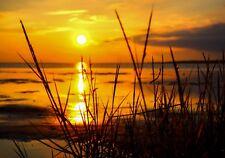 XXL Poster 100 x 70cm (S-848) Blick aufs ruhige Meer beim Sonnenuntergang