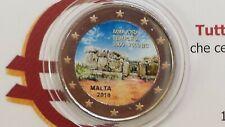 2 euro 2018 MALTA color farbe kulur couleur cor kleur Malte Menaidra Mnajdra