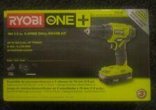 Ryobi P215K 18V 1/2 inch Cordless Drill Driver Kit
