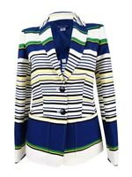 Tommy Hilfiger Women's Three-Pocket Striped Blazer