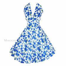 Maggie Tang 50s VTG Marilyn Polka Dots Floral Rockabilly Pinup Swing Dress 2XL