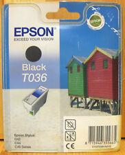 Epson T036 Genuine Black Cartridge. New & Sealed.