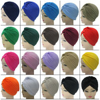 Women Indian Satin Bonnet Turban Cotton Hat Hair Head Mixed Wrap Cap Headwrap