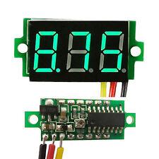 Mini DC 0 to 100V GREEN LED Panel Voltage Meter 3 Digital Display Voltmeter .