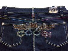 Vintage COOGI Embellished Embroidered Dark Wash Premium Designer Jeans 13/14