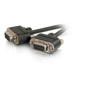 C2G 25ft Serial CMG DB9 Null Modem Cable IN WALL  F/F C2G-52179